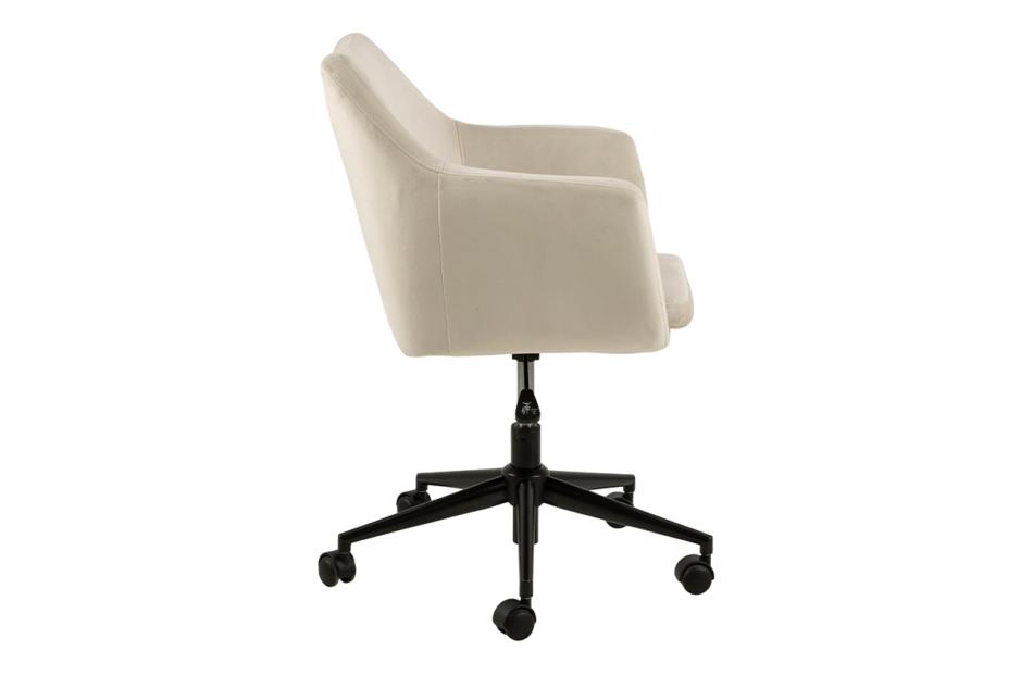 NOLO Fotel obrotowy welurowy biały kremowy - zdjęcie 6