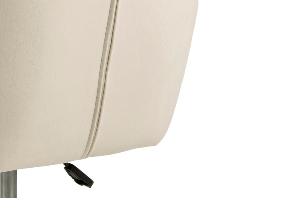 NOLO Fotel obrotowy welurowy biały kremowy - zdjęcie 7