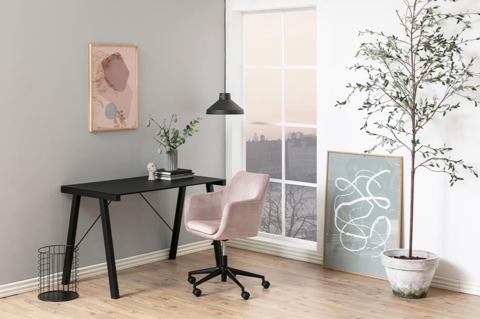 NOLO Fotel obrotowy welurowy różowy różowy - zdjęcie 1