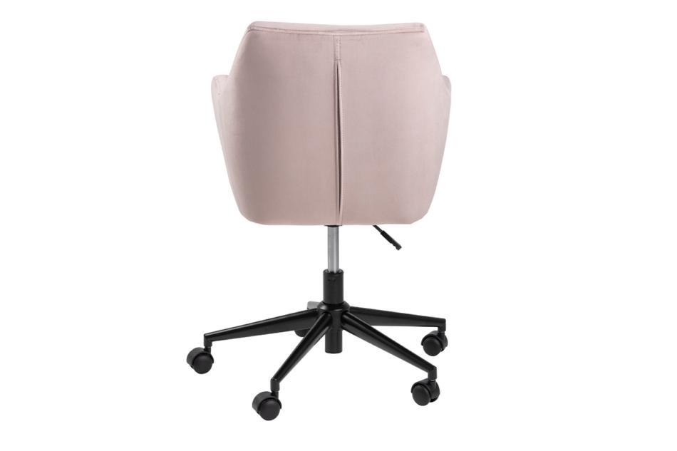 NOLO Fotel obrotowy welurowy różowy różowy - zdjęcie 3