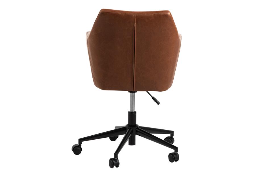 NOLO Fotel obrotowy ekoskóra brązowy brązowy - zdjęcie 3