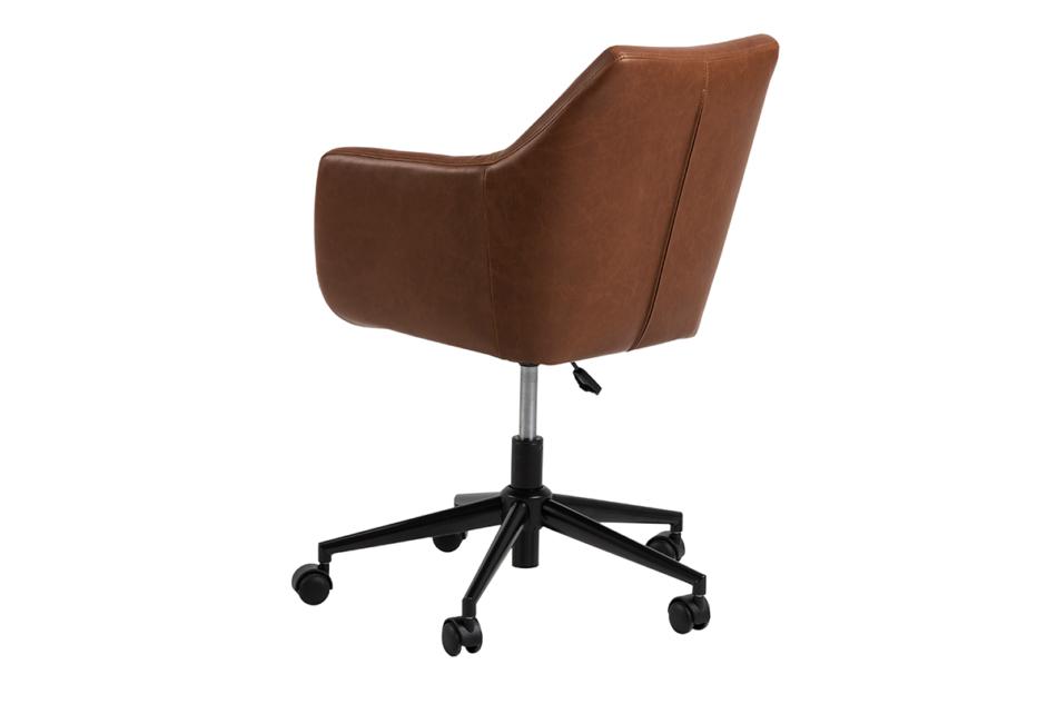 NOLO Fotel obrotowy ekoskóra brązowy brązowy - zdjęcie 4