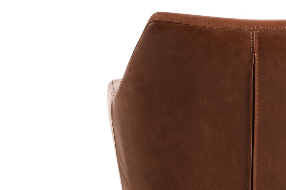 NOLO Fotel obrotowy ekoskóra brązowy brązowy - zdjęcie 7