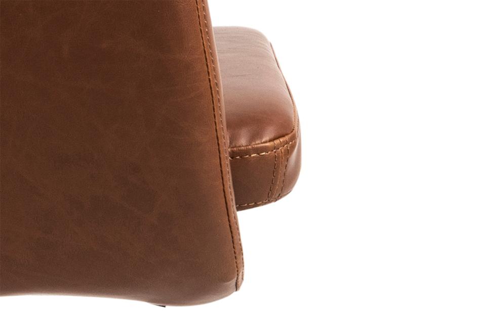 NOLO Fotel obrotowy ekoskóra brązowy brązowy - zdjęcie 8