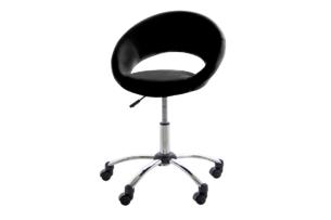 ORBI, https://konsimo.pl/kolekcja/orbi/ Krzesło barowe obrotowe czarne czarny - zdjęcie