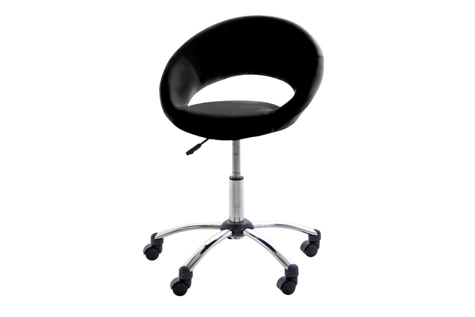 ORBI Krzesło barowe obrotowe czarne czarny - zdjęcie 0