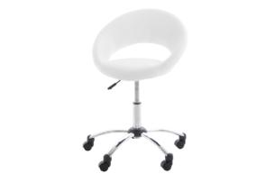 ORBI, https://konsimo.pl/kolekcja/orbi/ Krzesło barowe obrotowe białe biały - zdjęcie