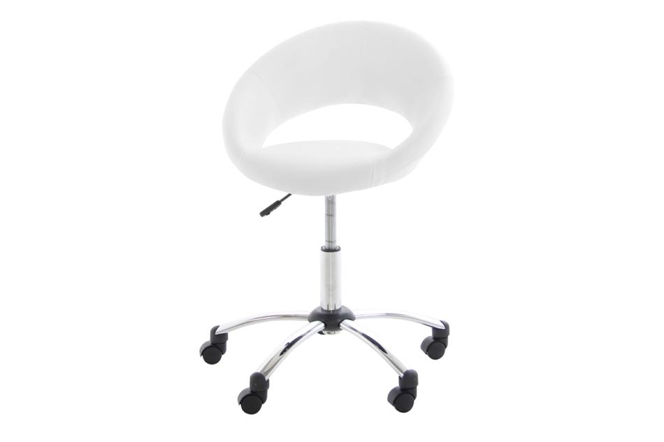 ORBI Krzesło barowe obrotowe białe biały - zdjęcie 0