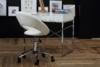 ORBI Krzesło barowe obrotowe białe biały - zdjęcie 2