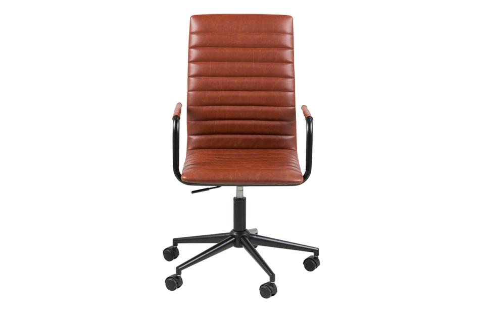 NESCO Krzesło biurowe obrotowe brązowe brązowy - zdjęcie 0