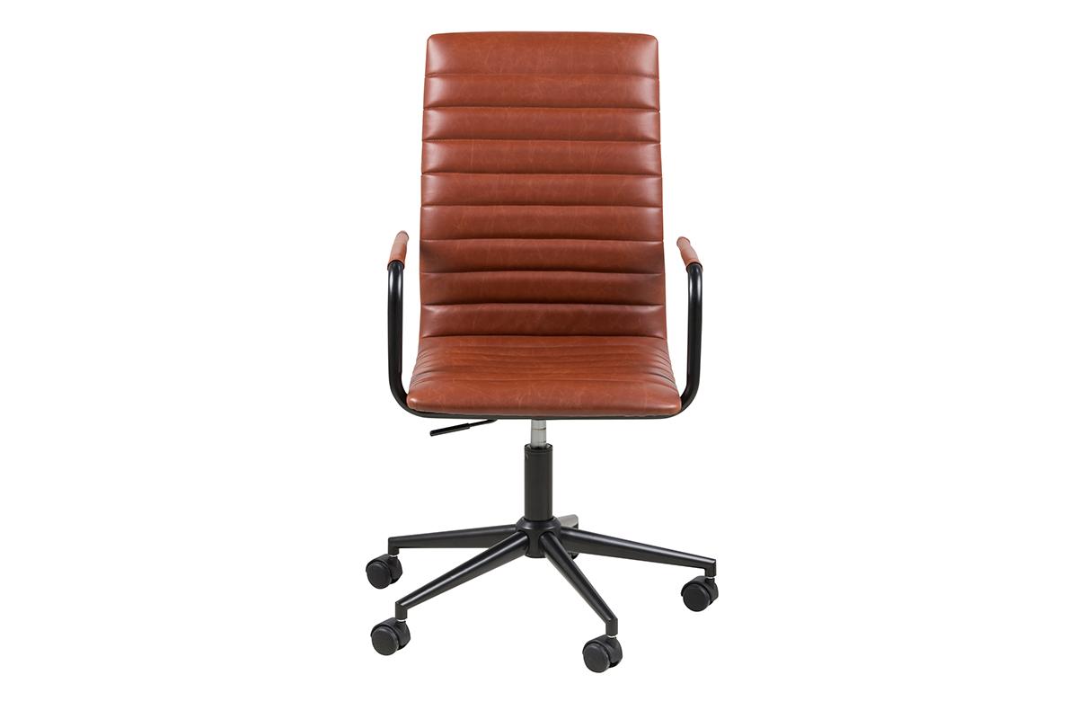 Krzesło biurowe obrotowe brązowe