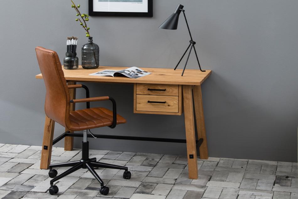 NESCO Krzesło biurowe obrotowe brązowe brązowy - zdjęcie 1