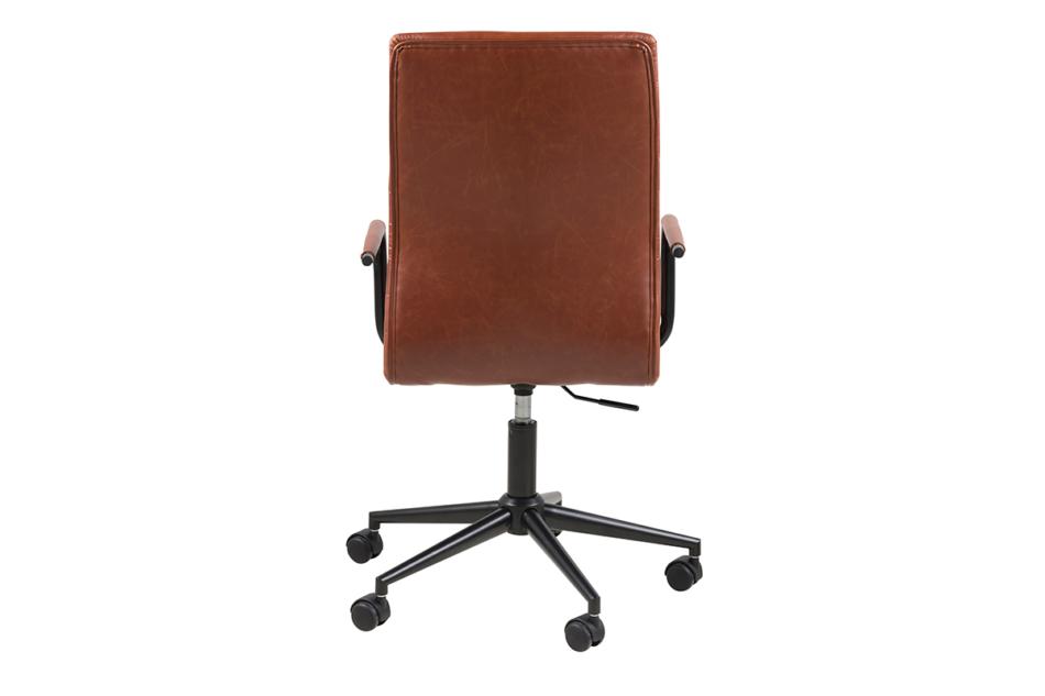 NESCO Krzesło biurowe obrotowe brązowe brązowy - zdjęcie 3