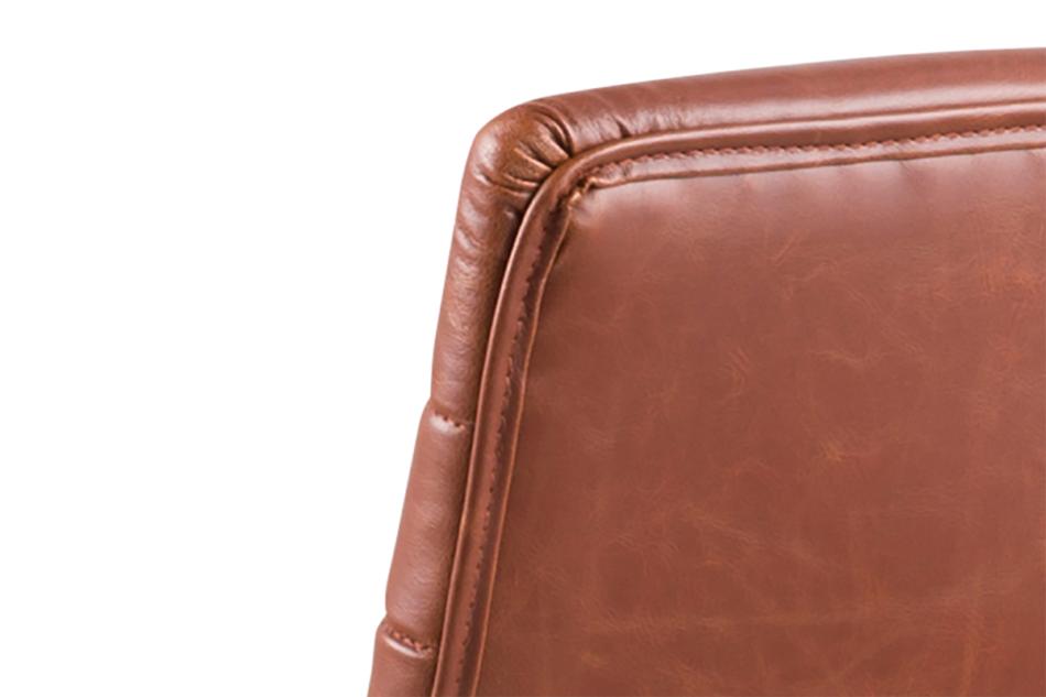 NESCO Krzesło biurowe obrotowe brązowe brązowy - zdjęcie 5