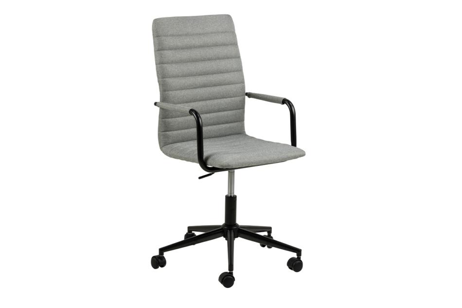 NESCO Krzesło biurowe obrotowe szare jasny szary - zdjęcie 1