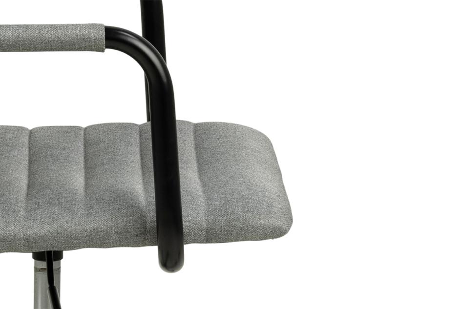NESCO Krzesło biurowe obrotowe szare jasny szary - zdjęcie 5
