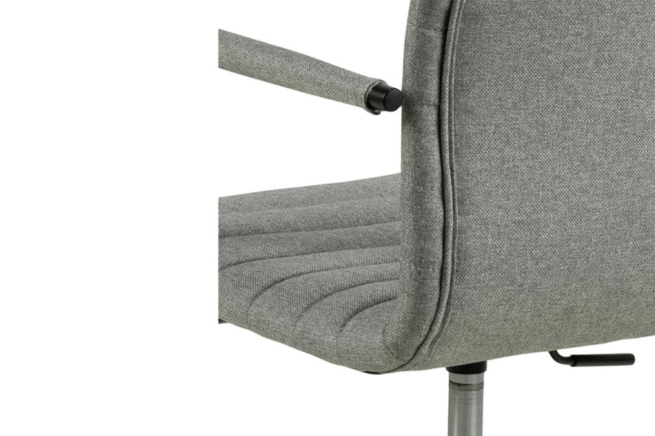 NESCO Krzesło biurowe obrotowe szare jasny szary - zdjęcie 8