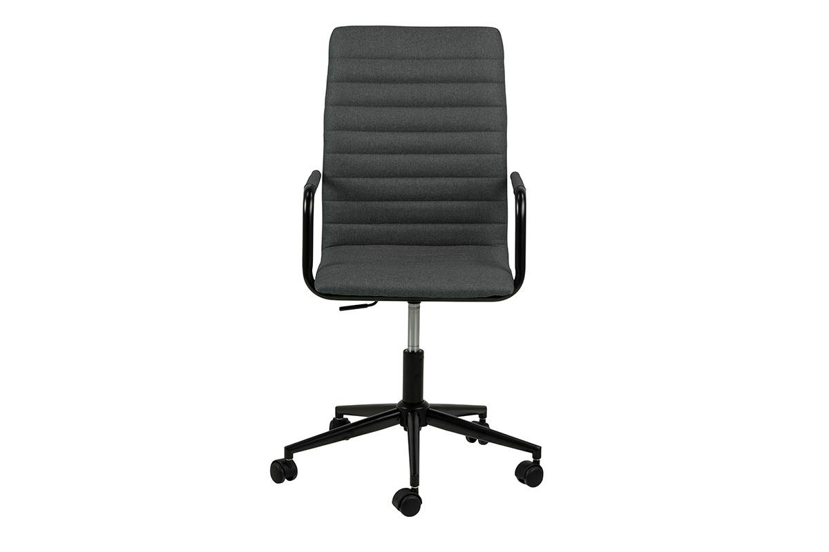 Krzesło biurowe obrotowe ciemno szare