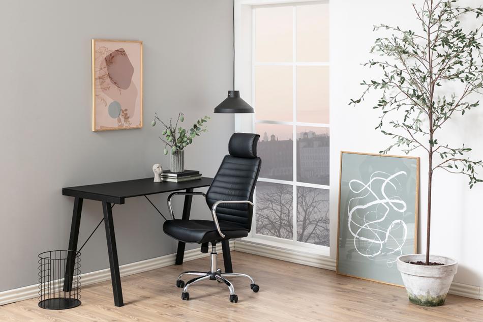 ARNOS Fotel biurowy obrotowy czarny czarny - zdjęcie 1