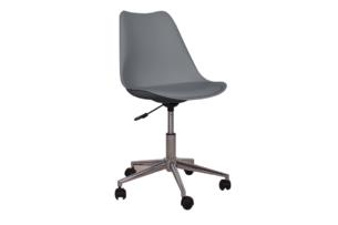 MOTLO, https://konsimo.pl/kolekcja/motlo/ Skandynawskie krzesło obrotowe szare ciemny szary - zdjęcie