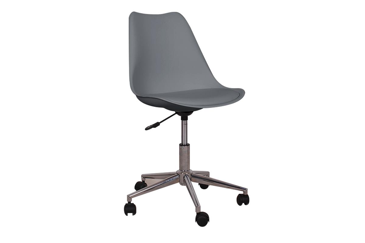 Skandynawskie krzesło obrotowe szare