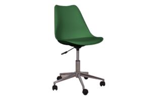 MOTLO, https://konsimo.pl/kolekcja/motlo/ Skandynawskie krzesło obrotowe butelkowa zieleń ciemny zielony - zdjęcie