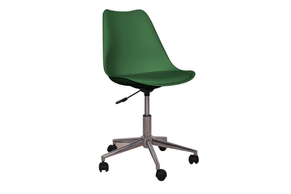 MOTLO Skandynawskie krzesło obrotowe butelkowa zieleń ciemny zielony - zdjęcie 0