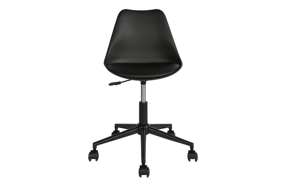 MOTLO Skandynawskie krzesło obrotowe czarne czarny - zdjęcie 0