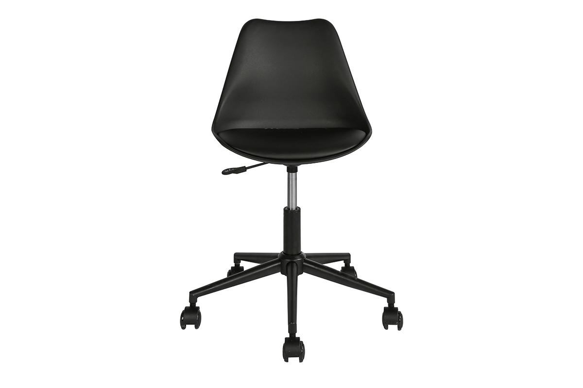 Skandynawskie krzesło obrotowe czarne