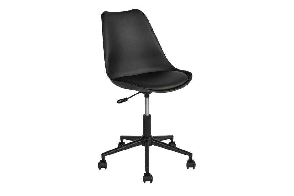 MOTLO Skandynawskie krzesło obrotowe czarne czarny - zdjęcie 1