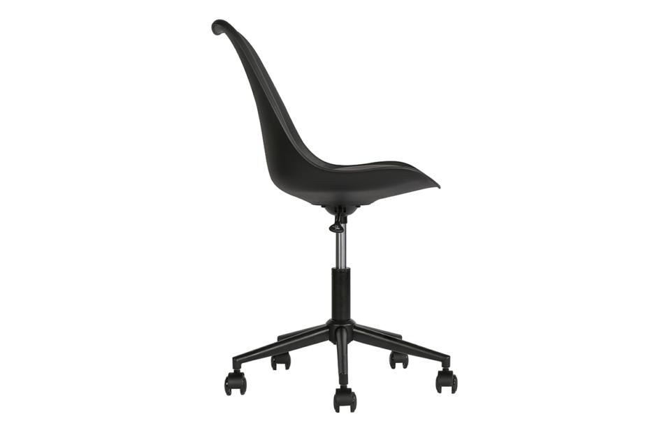 MOTLO Skandynawskie krzesło obrotowe czarne czarny - zdjęcie 2