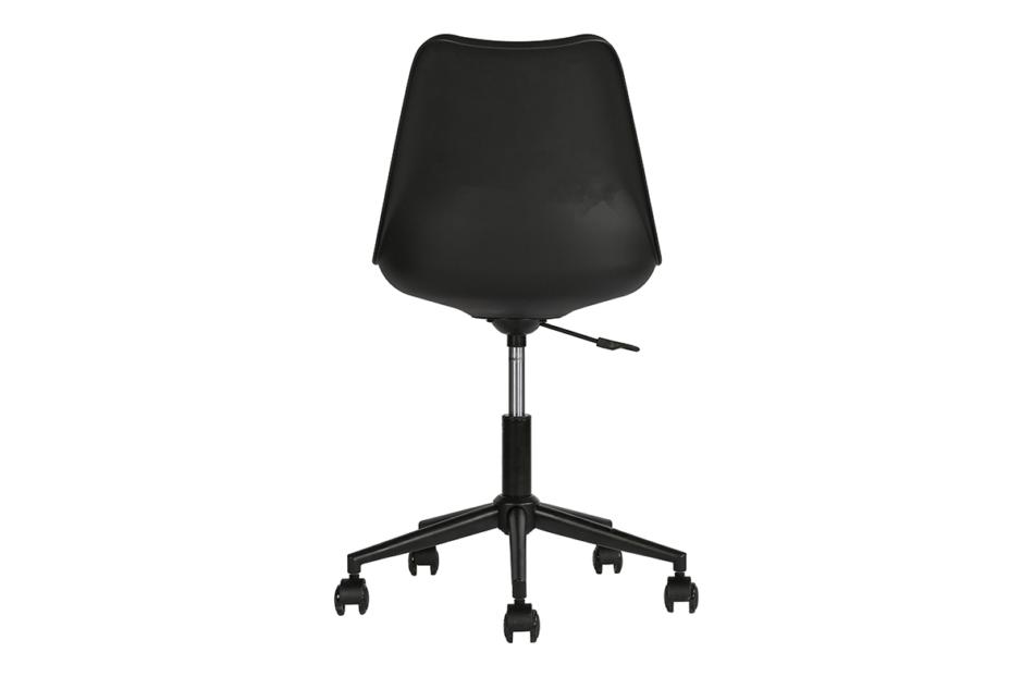 MOTLO Skandynawskie krzesło obrotowe czarne czarny - zdjęcie 3