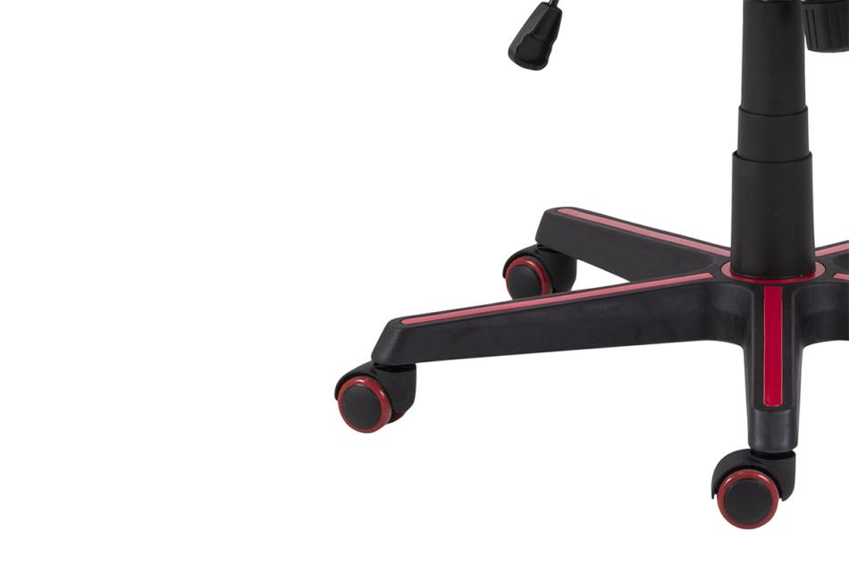 DARCO Krzesło gamingowe czerwień czarny/czarwony - zdjęcie 10
