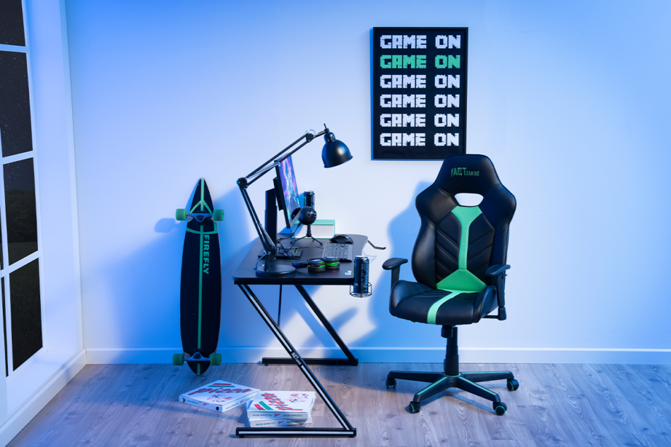 DARCO Krzesło gamingowe zieleń czarny/zielony - zdjęcie 1