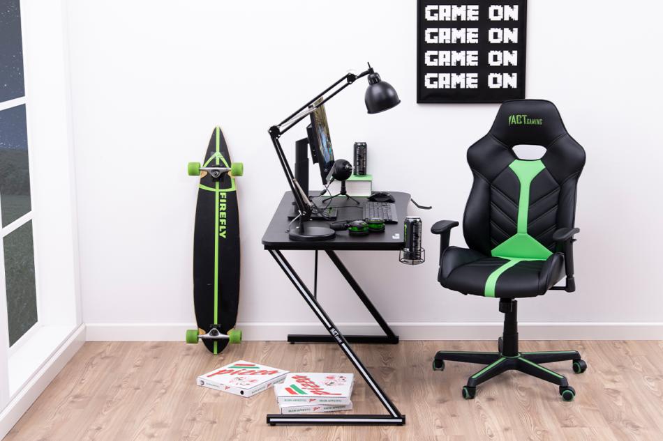 DARCO Krzesło gamingowe zieleń czarny/zielony - zdjęcie 2