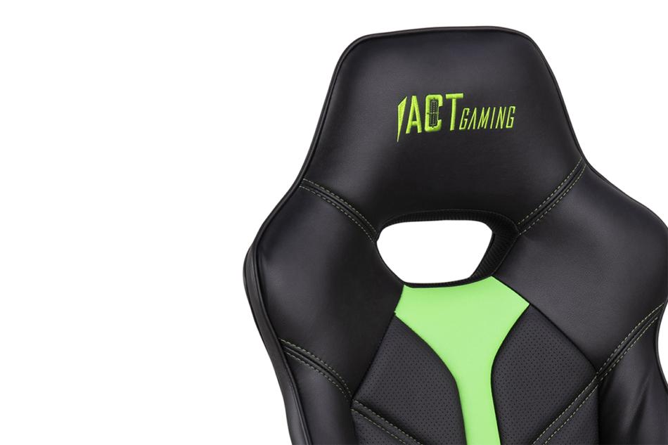 DARCO Krzesło gamingowe zieleń czarny/zielony - zdjęcie 7