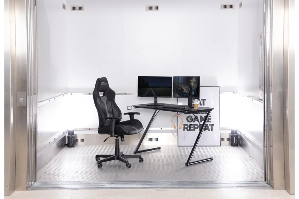 DARCO Krzesło gamingowe czarne czarny/szary - zdjęcie 1