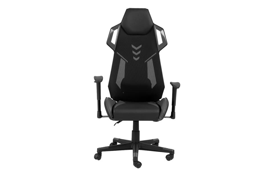 BAGRO Nowoczesne krzesło gamingowe czarne czarny/szary - zdjęcie 0