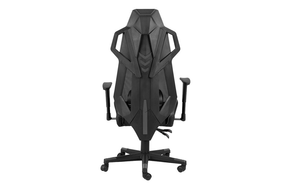 BAGRO Nowoczesne krzesło gamingowe czarne czarny/szary - zdjęcie 4