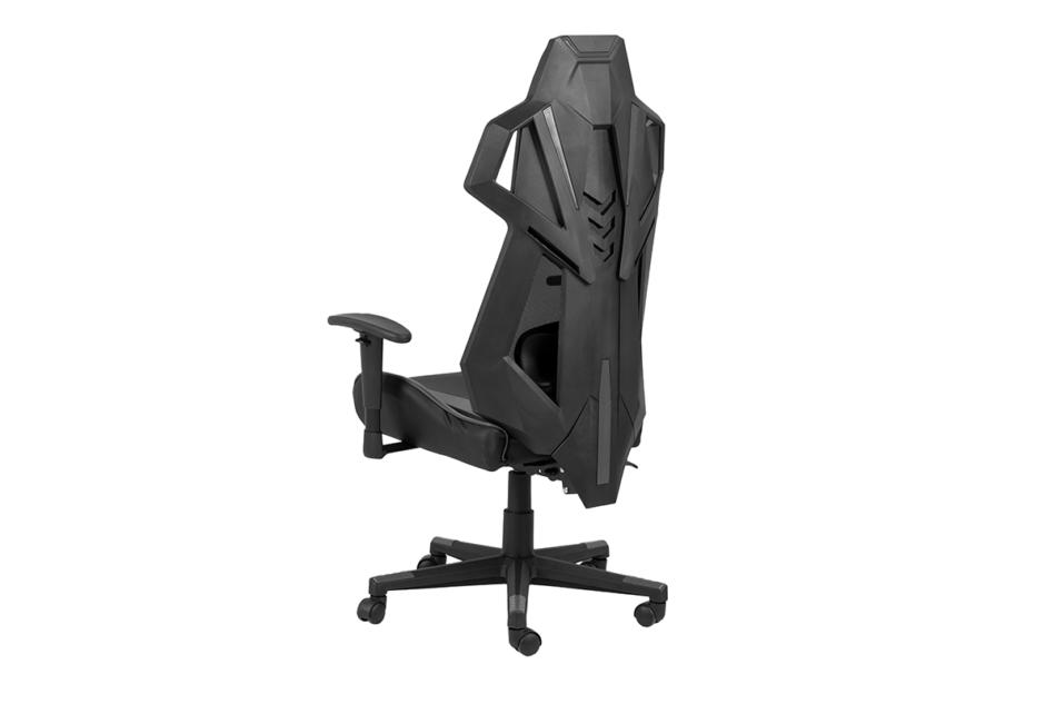 BAGRO Nowoczesne krzesło gamingowe czarne czarny/szary - zdjęcie 2