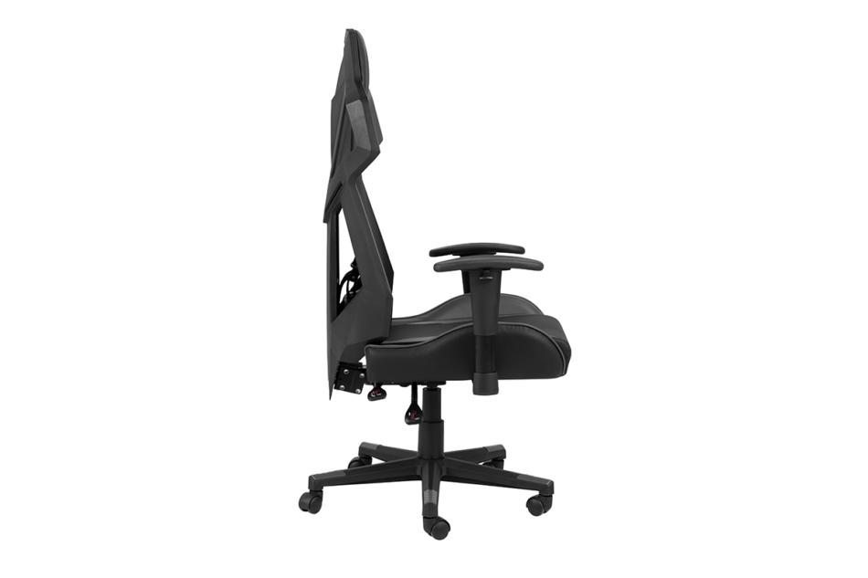 BAGRO Nowoczesne krzesło gamingowe czarne czarny/szary - zdjęcie 5