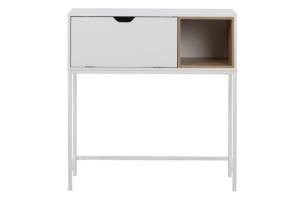 MARU, https://konsimo.pl/kolekcja/maru/ Skandynawska konsola biała biały - zdjęcie