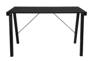 ARCTO, https://konsimo.pl/kolekcja/arcto/ Nowoczesne biurko metalowe czarne czarny - zdjęcie