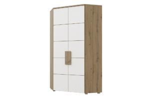 ARKINA, https://konsimo.pl/kolekcja/arkina/ Duża szafa narożna do sypialni dąb artisan/biały - zdjęcie