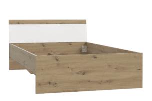 ARKINA, https://konsimo.pl/kolekcja/arkina/ łóżko dwuosobowe nowoczesne dąb artisan/biały - zdjęcie