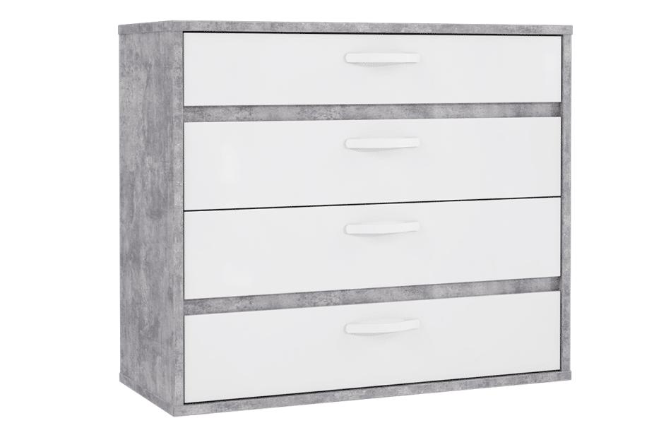 CANMORE komoda z 4 szufladami szary/biały - zdjęcie 0