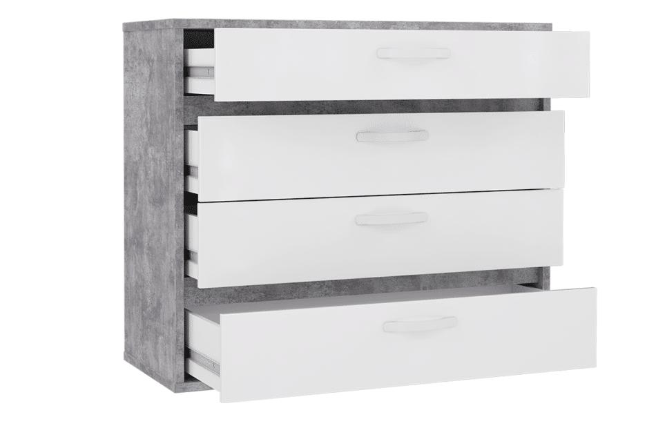 CANMORE komoda z 4 szufladami szary/biały - zdjęcie 2