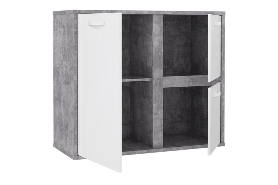 CANMORE Komoda z półkami szary/biały - zdjęcie 2