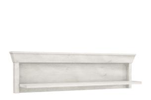 KASHMIR, https://konsimo.pl/kolekcja/kashmir/ Półka wisząca rustykalna ciemny szary/biały - zdjęcie