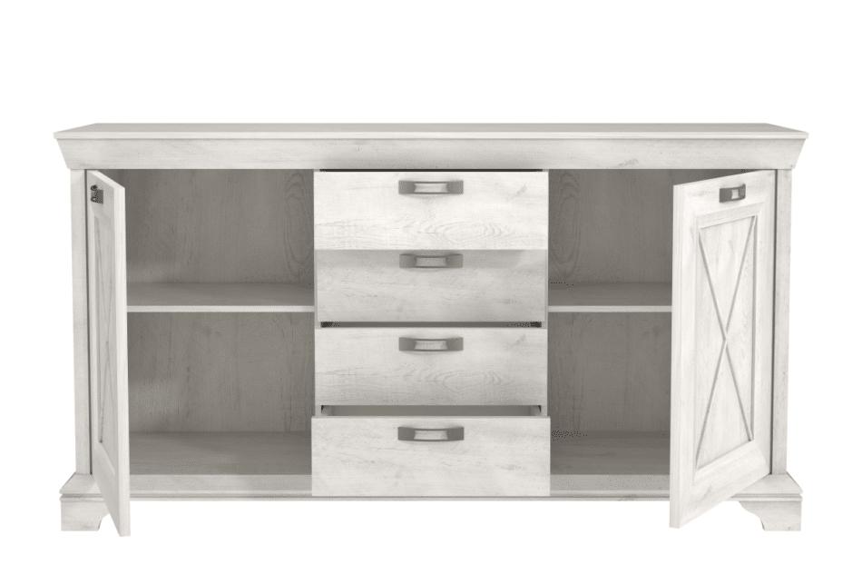 KASHMIR Komoda rustykalna do sypialni ciemny szary/biały - zdjęcie 2